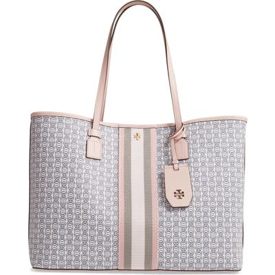 Tory Burch Gemini Link Coated Canvas Tote - Pink