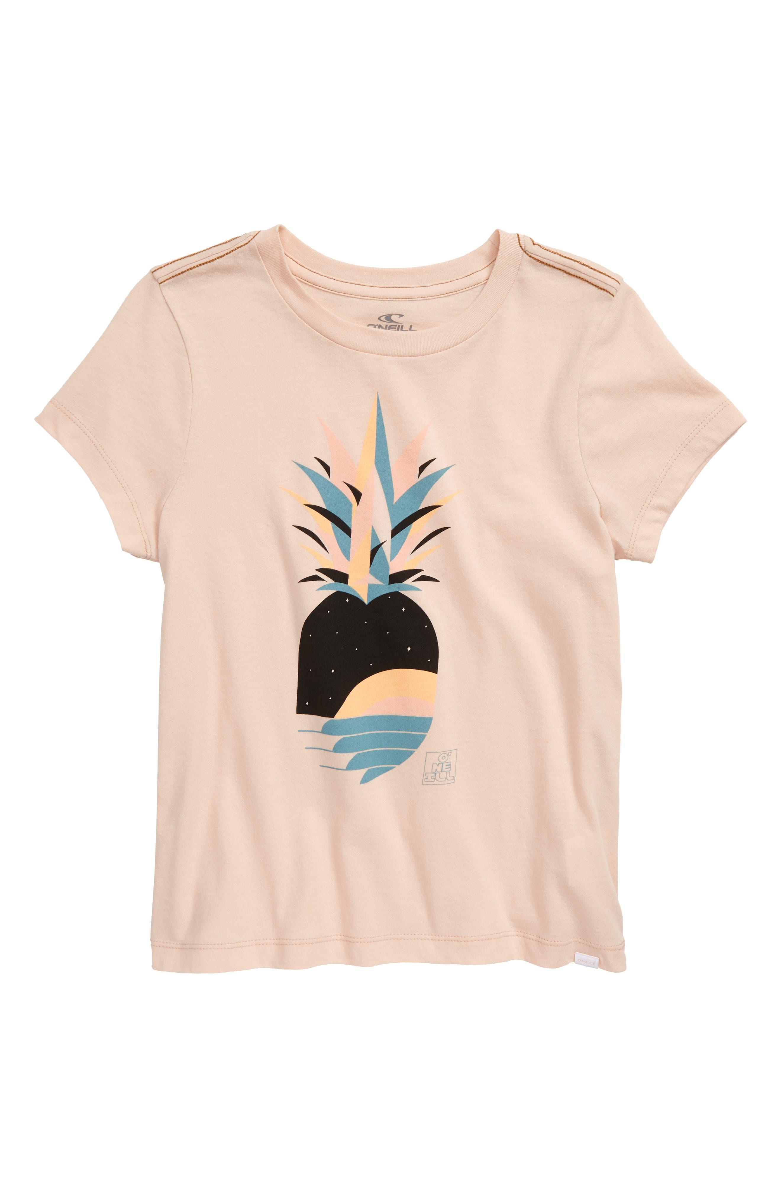 Girls ONeill Galaxy Pineapple Print Tee Size M (810)  Pink
