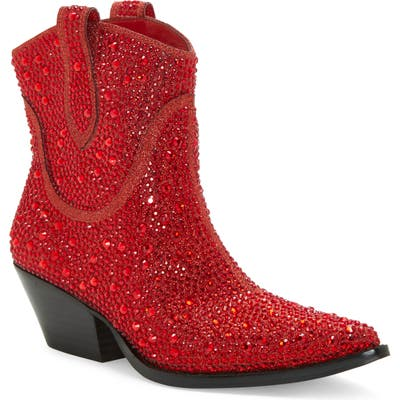 Jessica Simpson Tamira2 Crystal Western Boot- Red