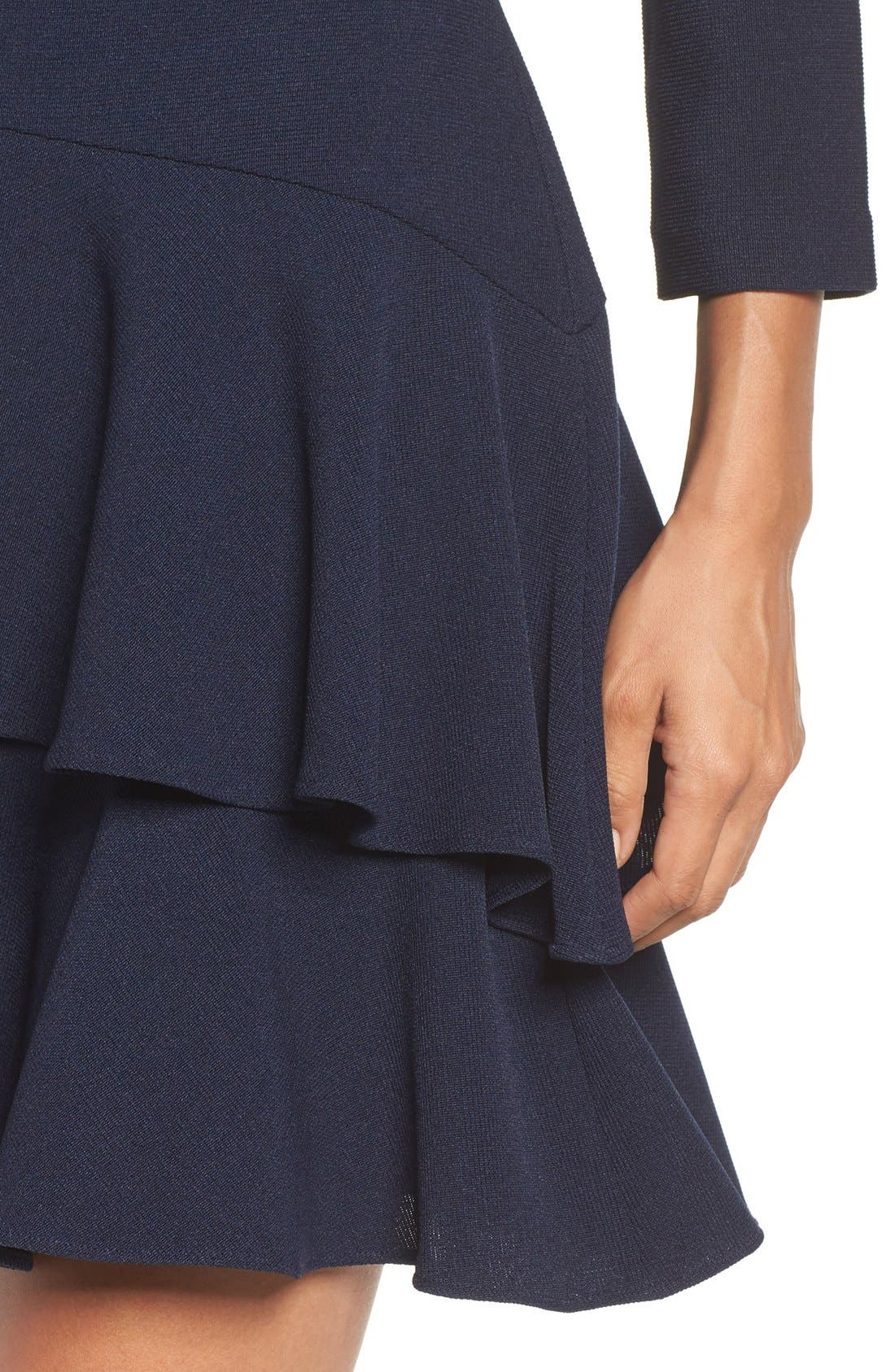 ,                             Tiered Ruffle Knit Dress,                             Alternate thumbnail 21, color,                             410