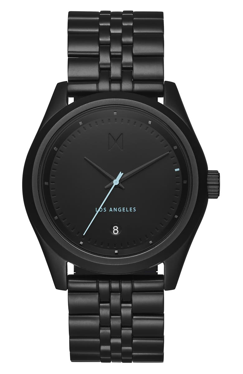 MVMT Time Crusher Bracelet Watch, 39mm, Main, color, BLACK