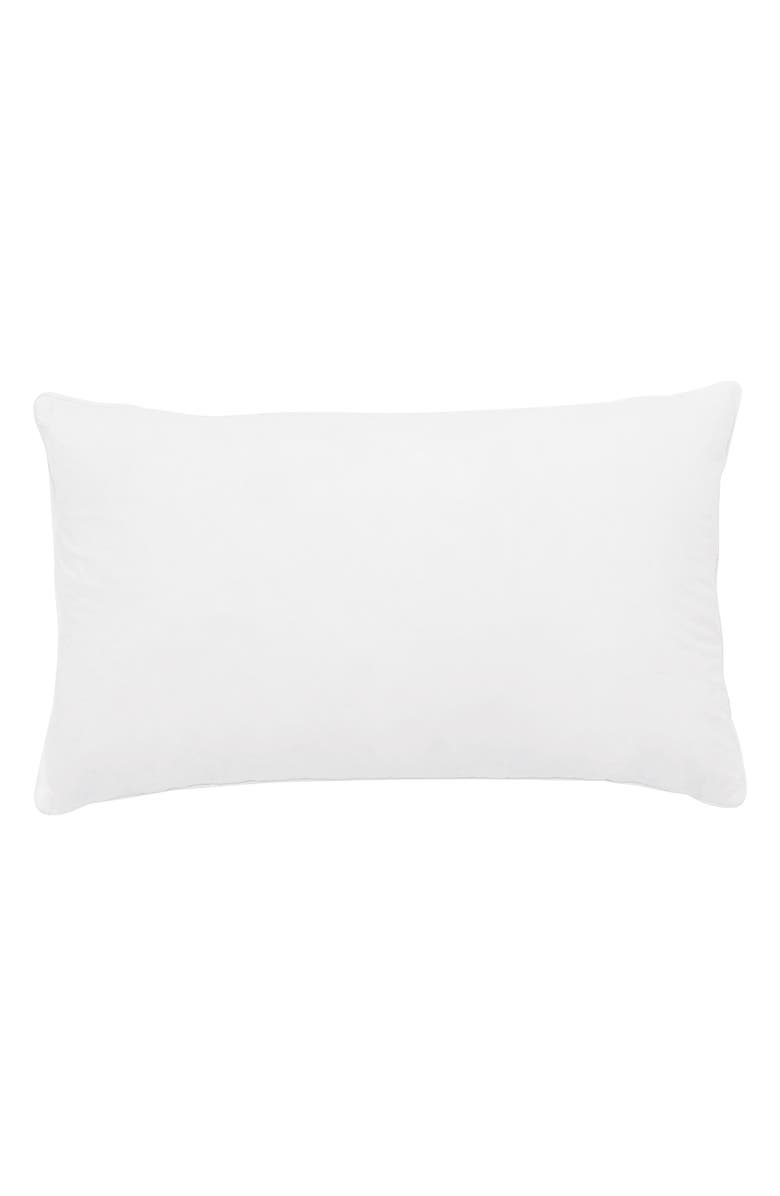 THE WHITE COMPANY Rectangular Duck Feather Pillow Insert, Main, color, WHITE