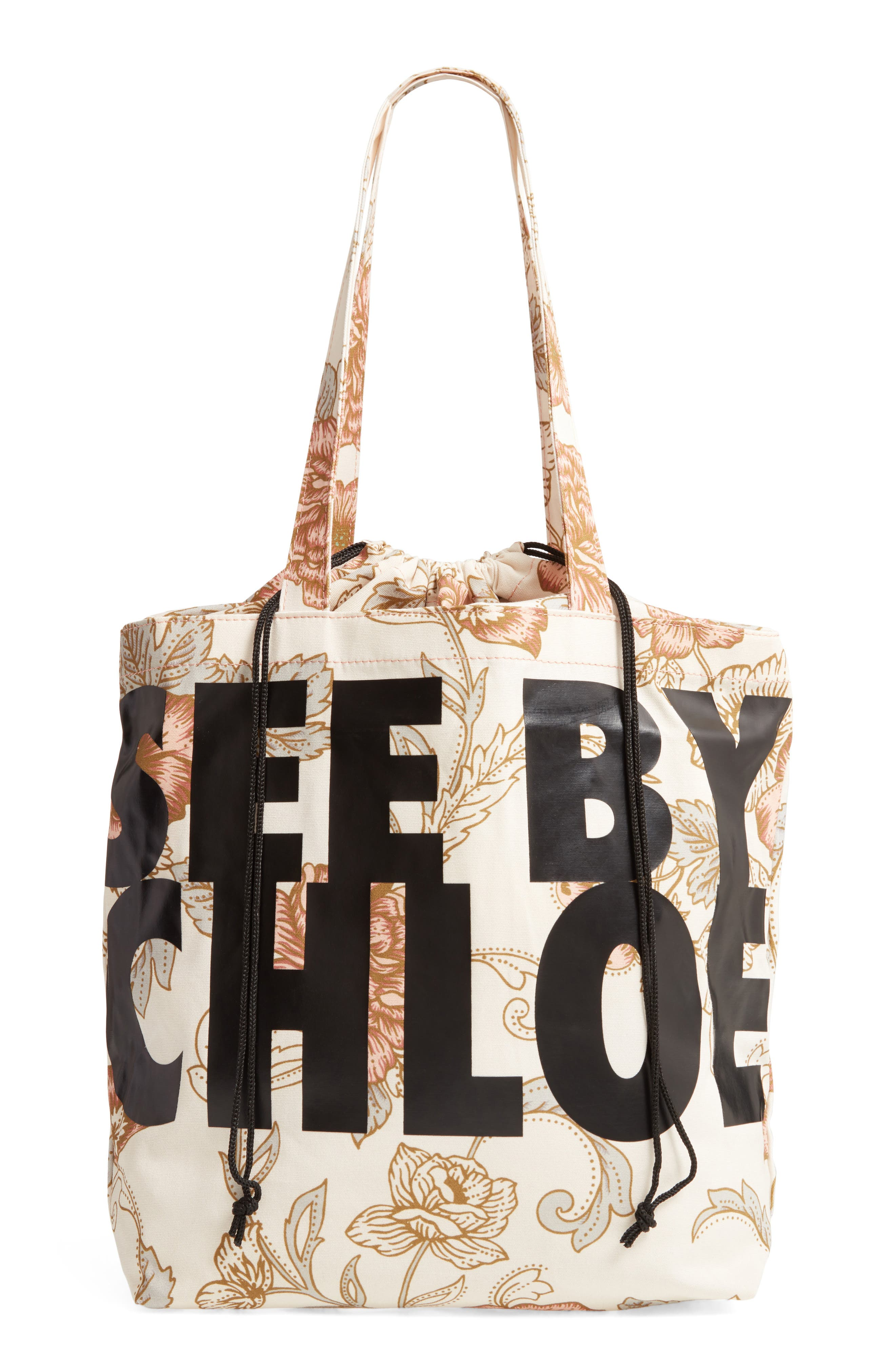 See By Chloe Logo Canvas Tote - Pink