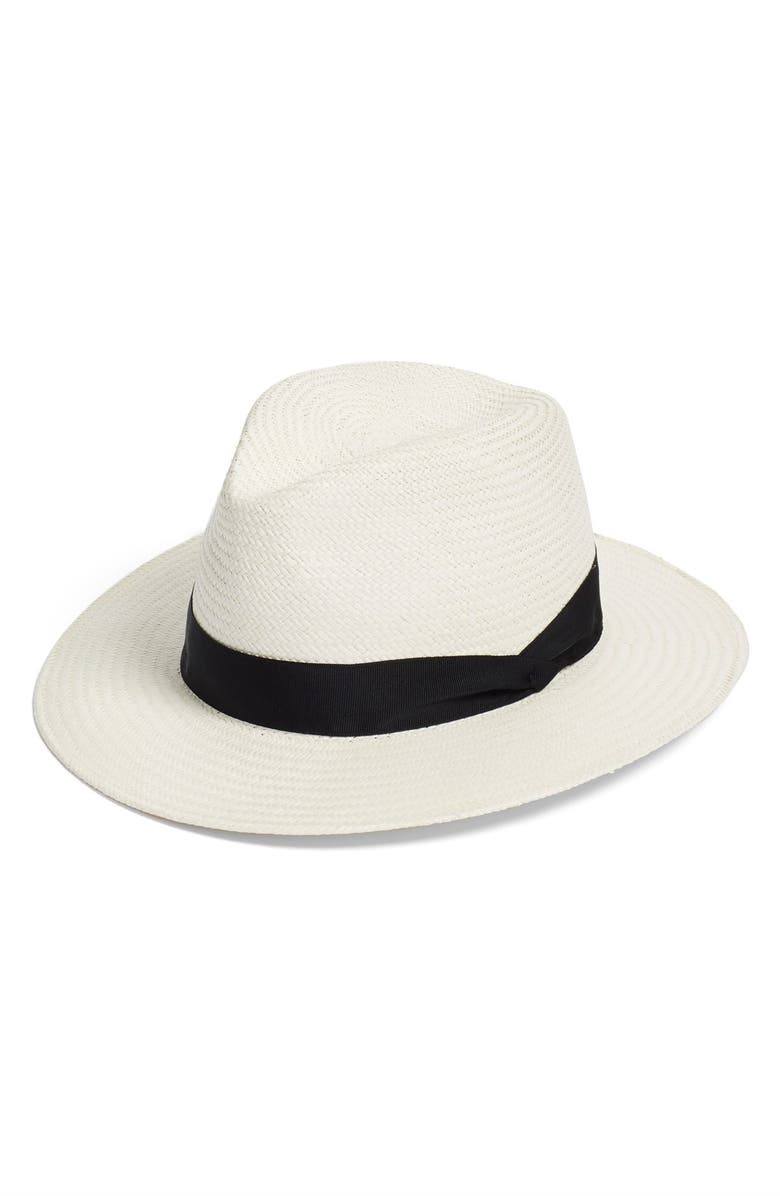 RAG & BONE Straw Panama Hat, Main, color, WHITE