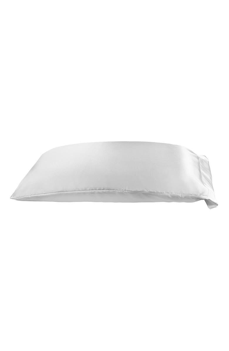 NIGHT Clean Silk Pillowcase, Main, color, WHITE