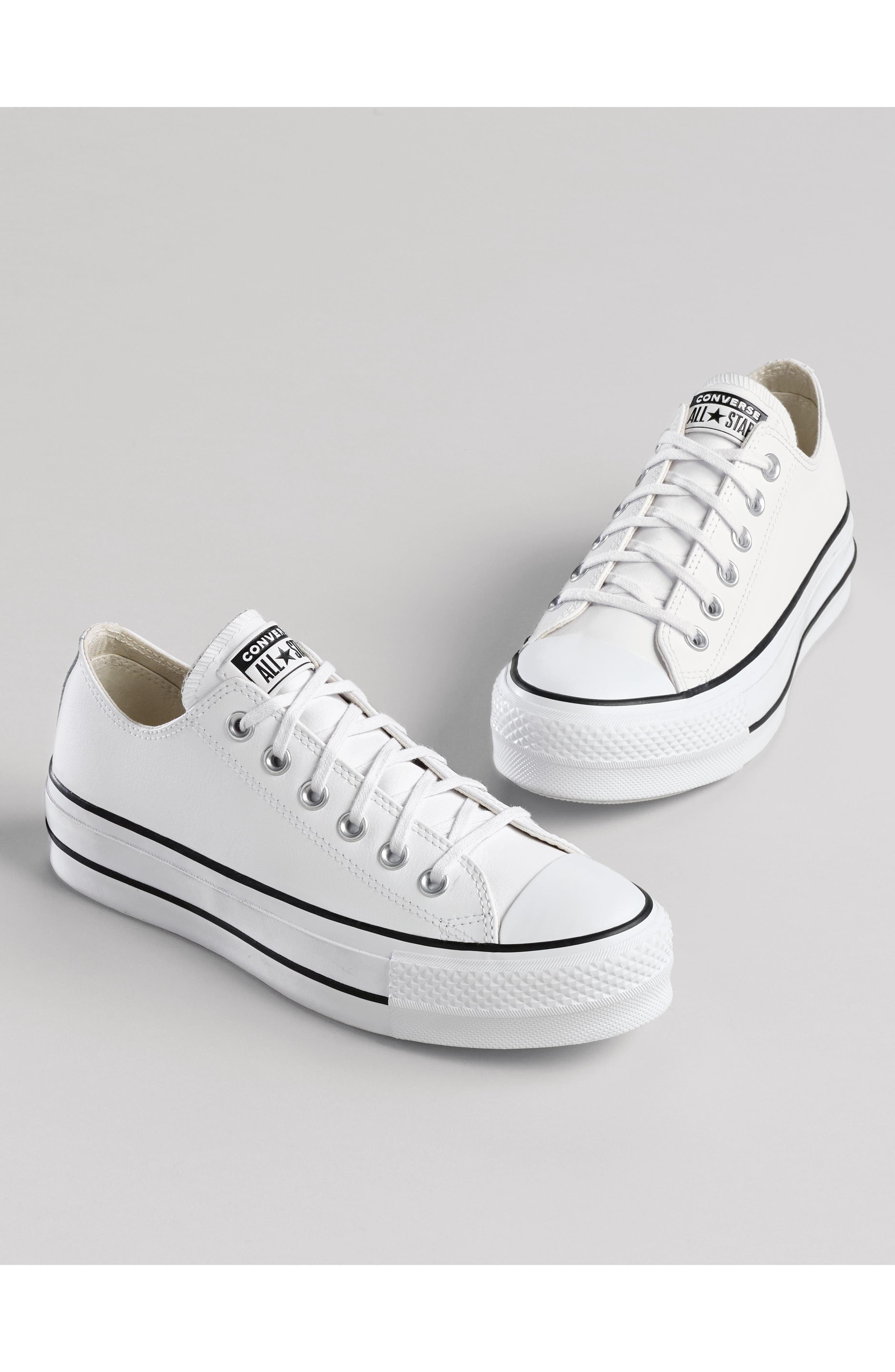 ,                             Chuck Taylor<sup>®</sup> All Star<sup>®</sup> Platform Sneaker,                             Alternate thumbnail 7, color,                             WHITE LEATHER