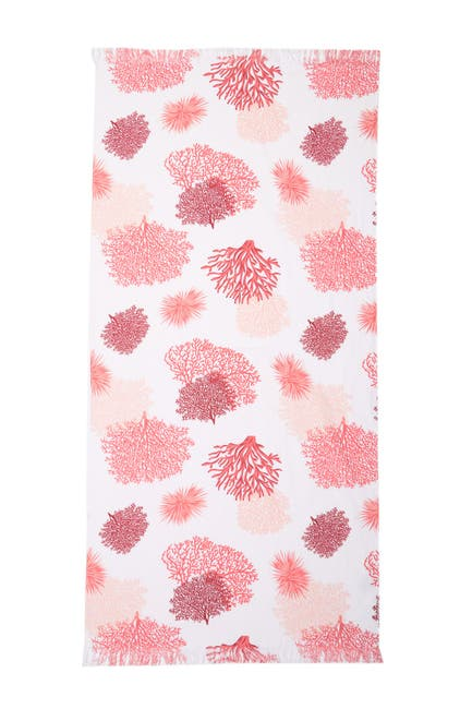 Image of Apollo Towels Meadow Trendy Beach Towel - Pink