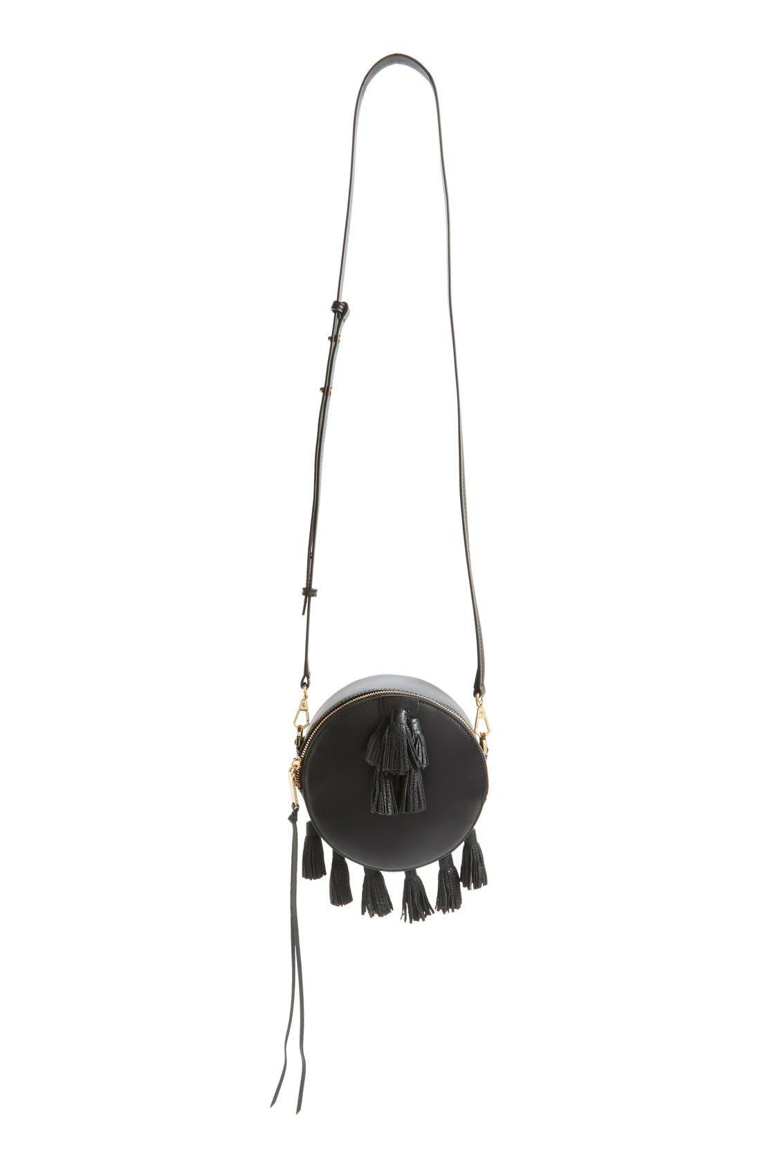 'Sofia' Round Crossbody Bag, Main, color, 001