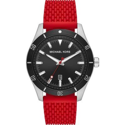 Michael Kors Layton Silicone Strap Watch, 4m