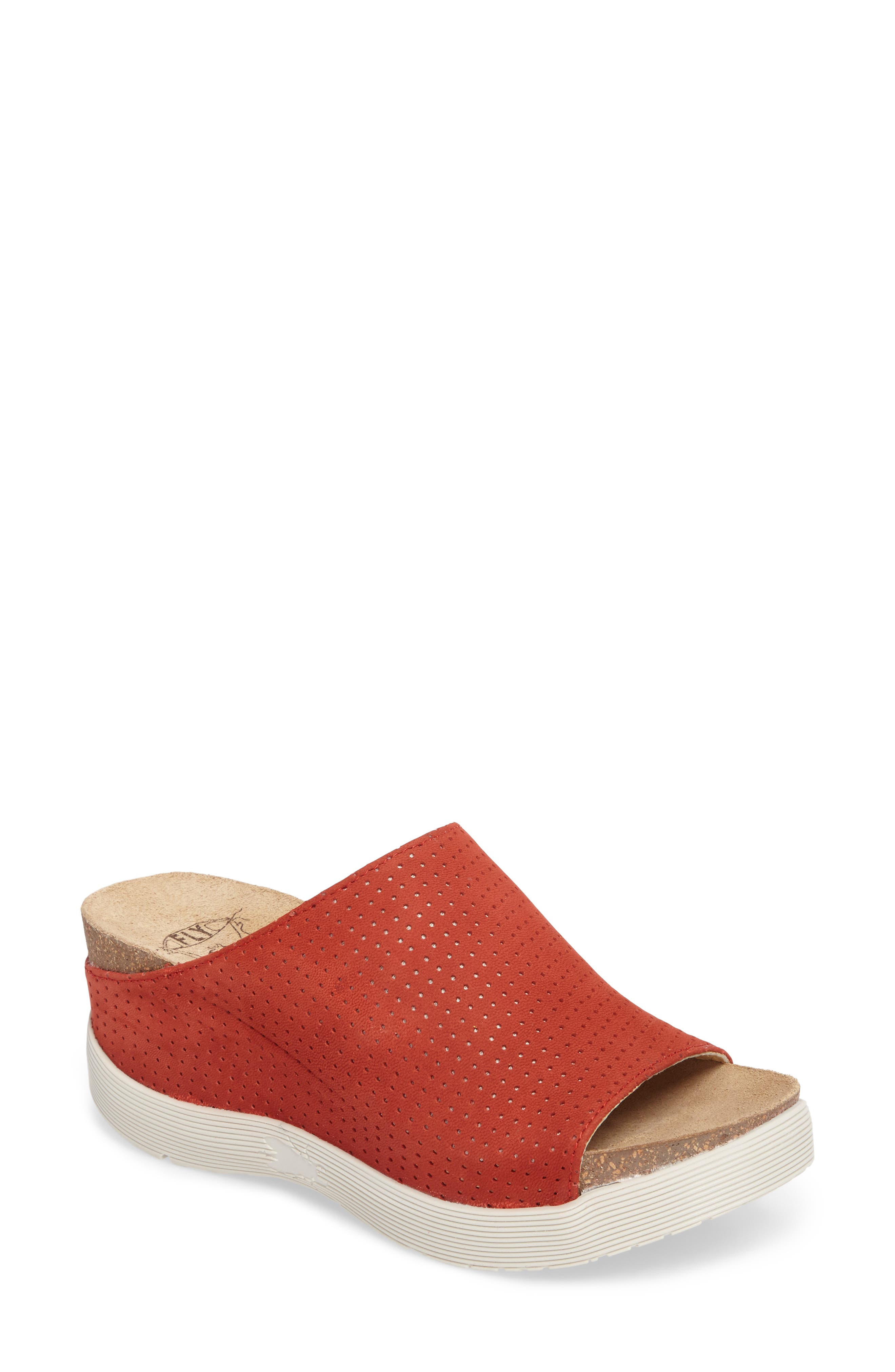 Fly London Whin Platform Sandal - Red