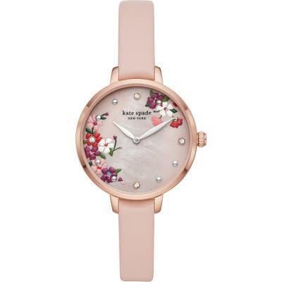 Kate Spade New York Metro Leather Strap Watch,