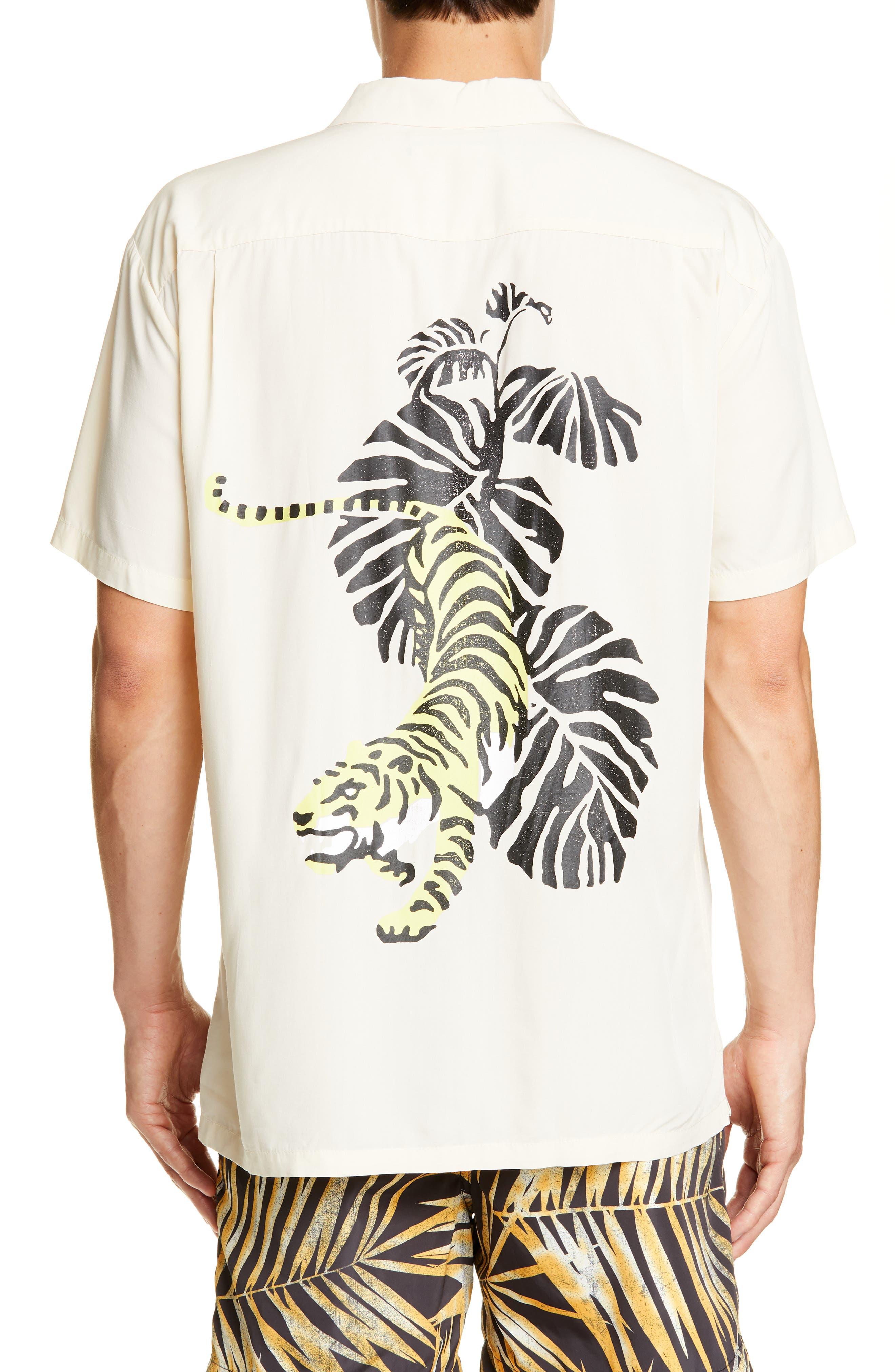 ,                             White Tiger Camp Shirt,                             Alternate thumbnail 3, color,                             WHITE