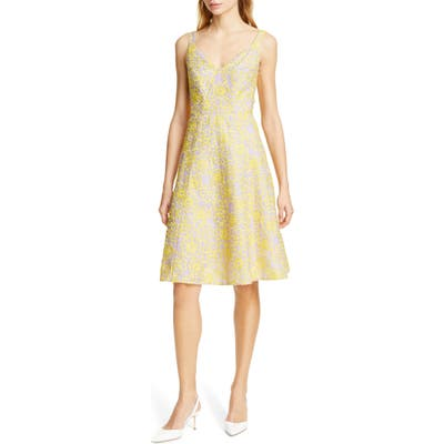 Kate Spade New York Floral Silk Sundress, Yellow