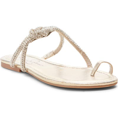 Jessica Simpson Klancy Sandal- Metallic