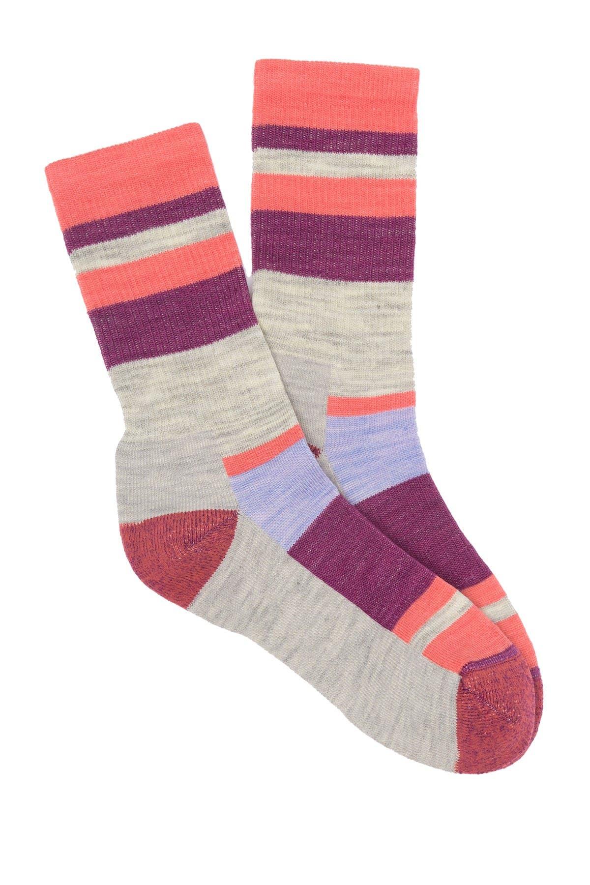 Image of SmartWool Hike Light Striped Crew Socks