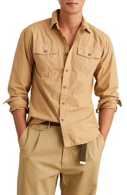 Image of ALEX MILL Garment Dyed Field Regular Fit Shirt