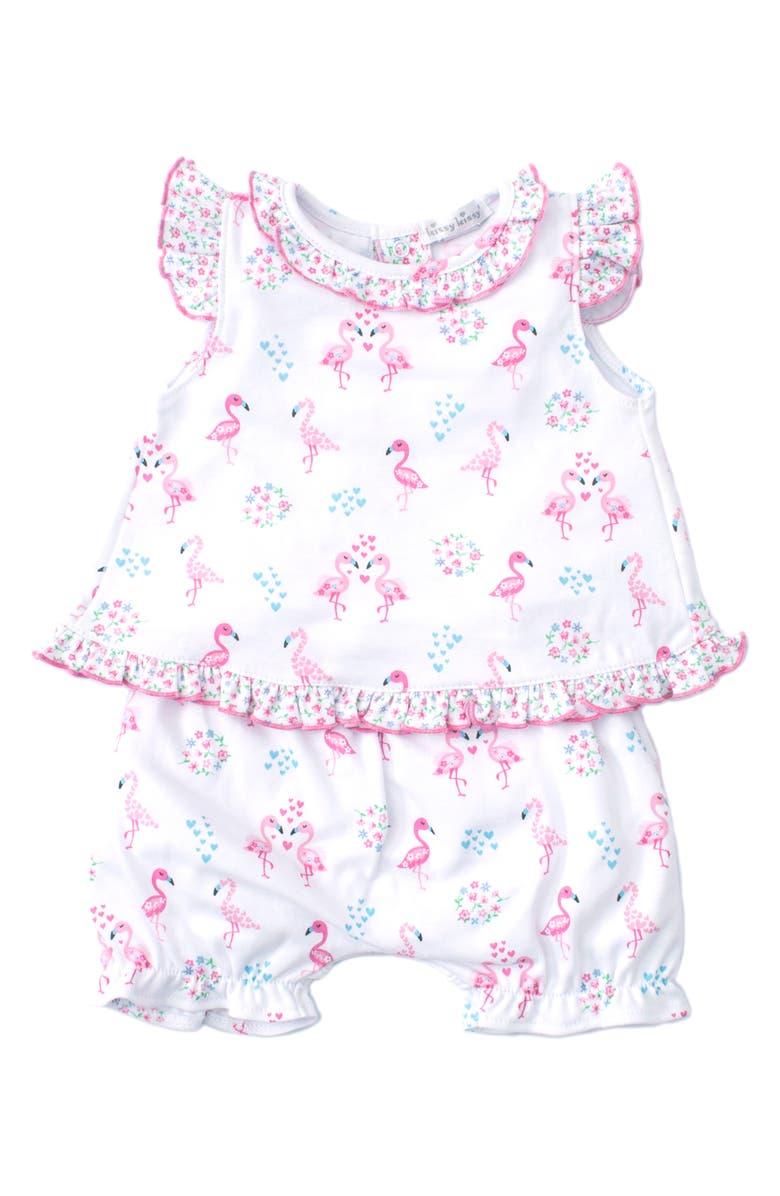 KISSY KISSY Flamingos Swing Top & Bubble Shorts Set, Main, color, 650