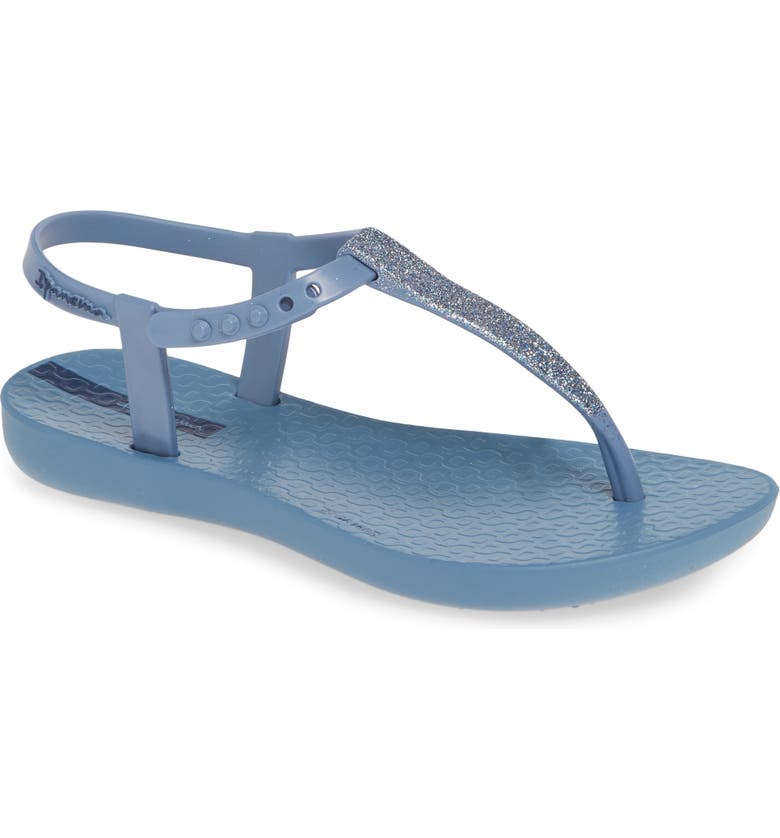 IPANEMA Shimmer T-Strap Sandal, Main, color, BLUE