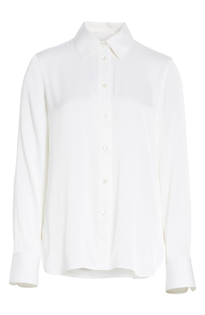 VINCE Slim Silk Blouse, Alternate, color, OPTIC WHITE