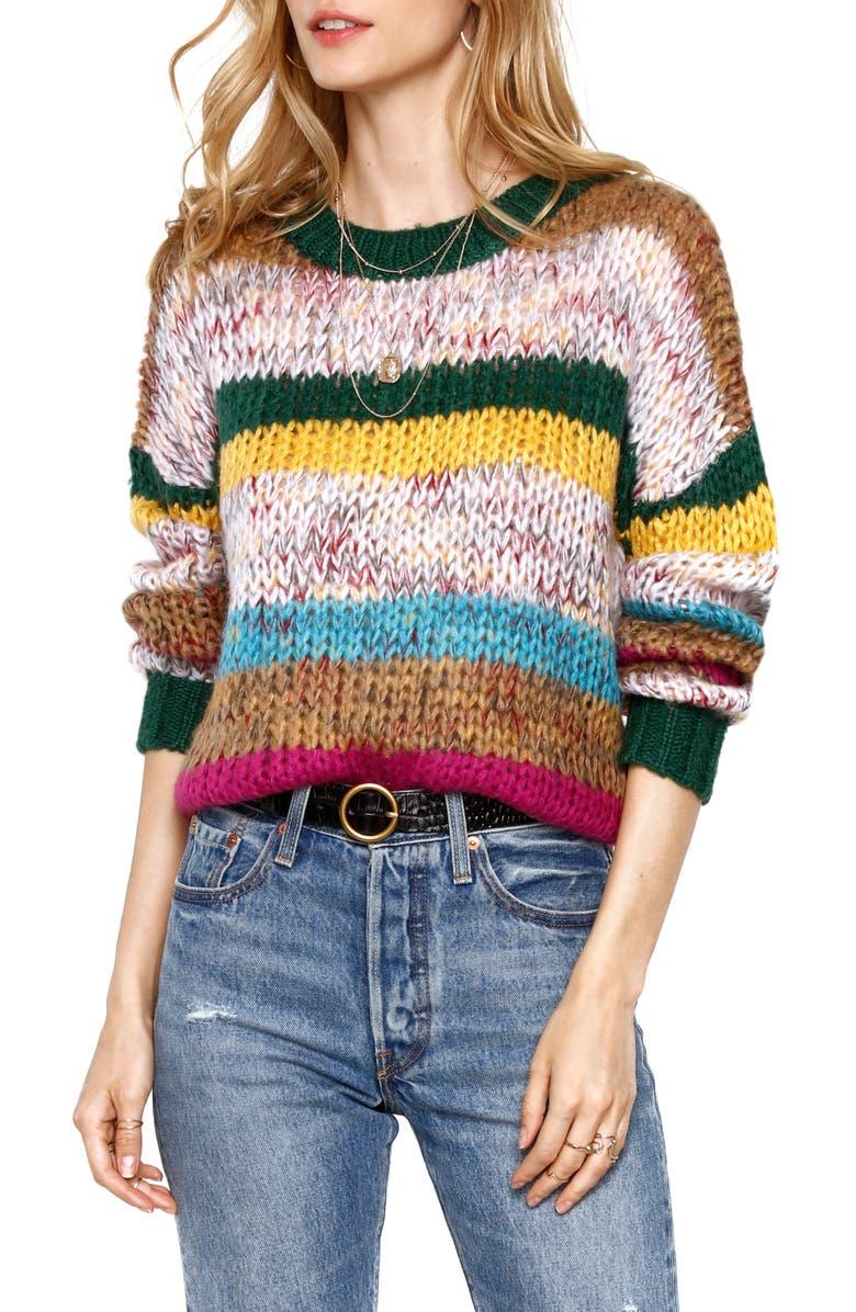 HEARTLOOM Dawson Sweater, Main, color, SPRUCE
