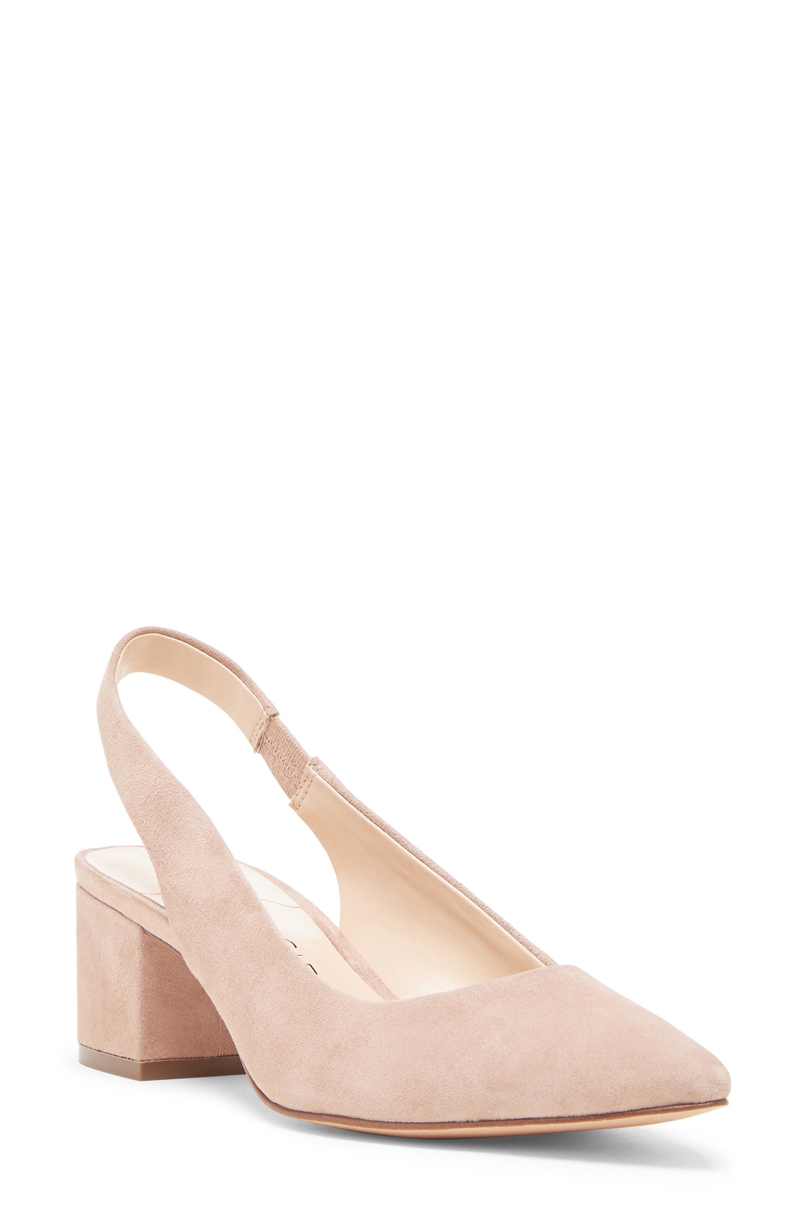 Keilinah Slingback Pointy Toe Pump, Main, color, DUSTY ROSE SUEDE
