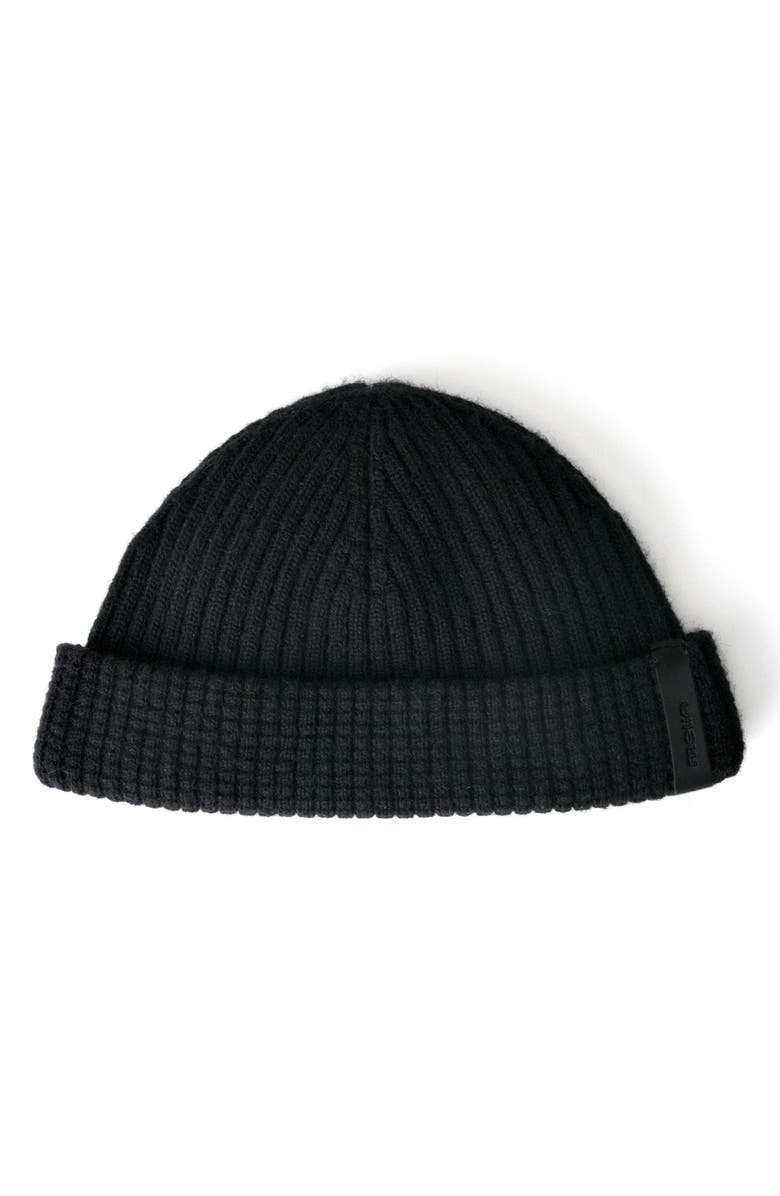 MELIN The Destination Short Beanie, Main, color, BLACK