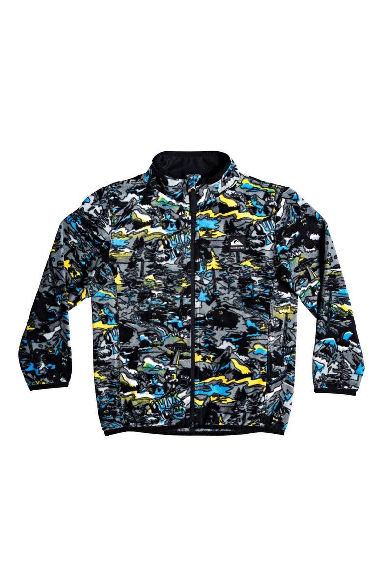 QUIKSILVER Aker Fleece Jacket, Main, color, SULPHUR POP YETI FOREST