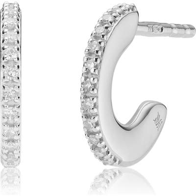 Monica Vinader Small Fiji Diamond Hoop Earrings