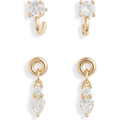 Nordstrom Set Of 2 Tiny Cubic Zirconia Earrings