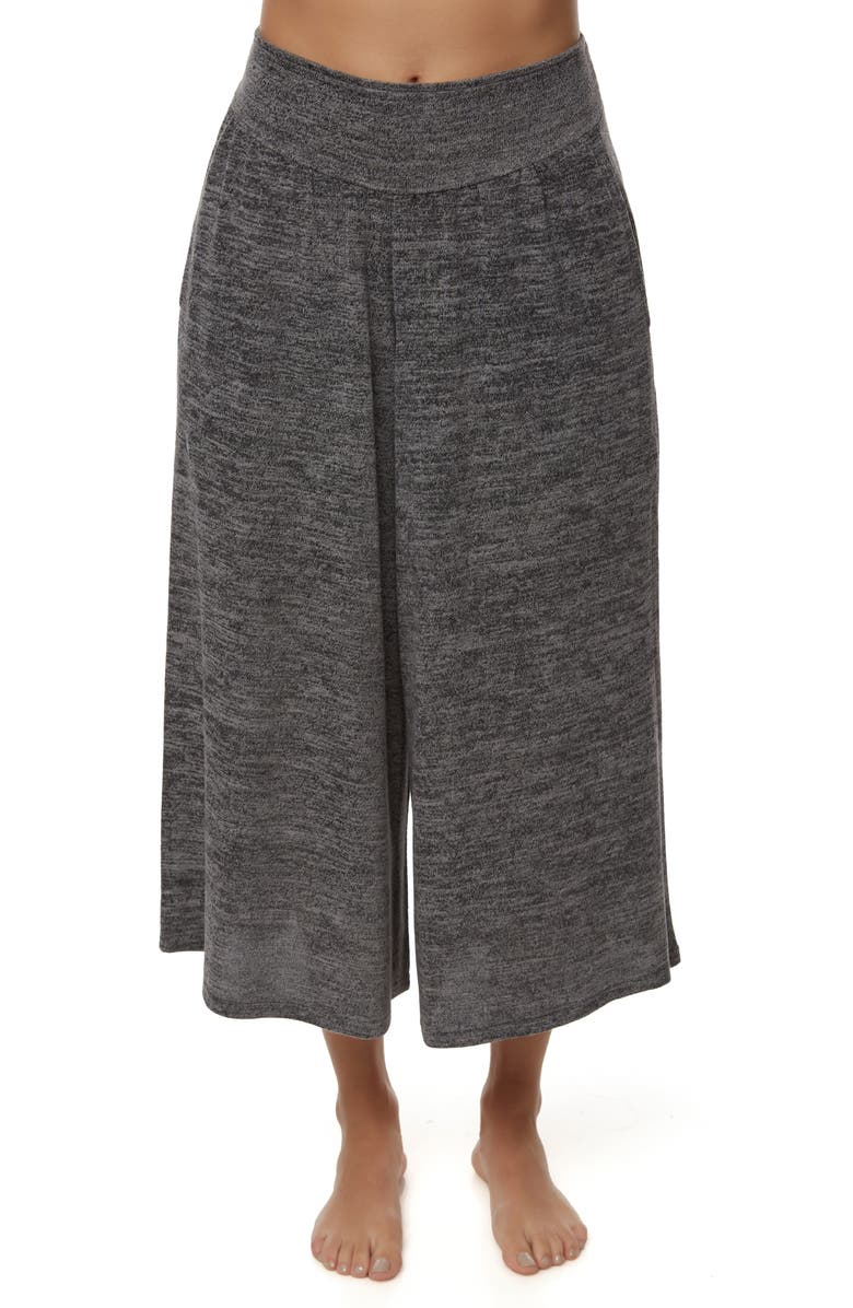 O'NEILL Cappuccino Knit Wide Leg Crop Pants, Main, color, CHARCOAL