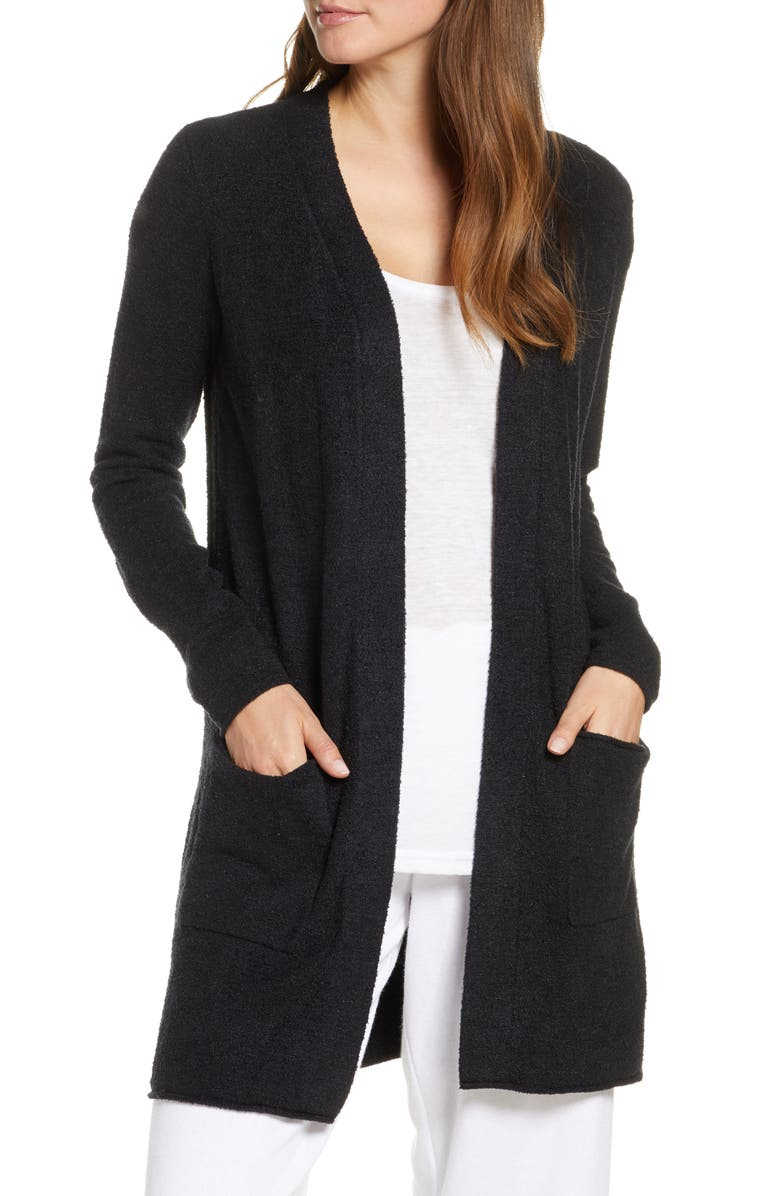 BAREFOOT DREAMS<SUP>®</SUP> CozyChic<sup>™</sup> Lite Long Cardigan, Main, color, BLACK