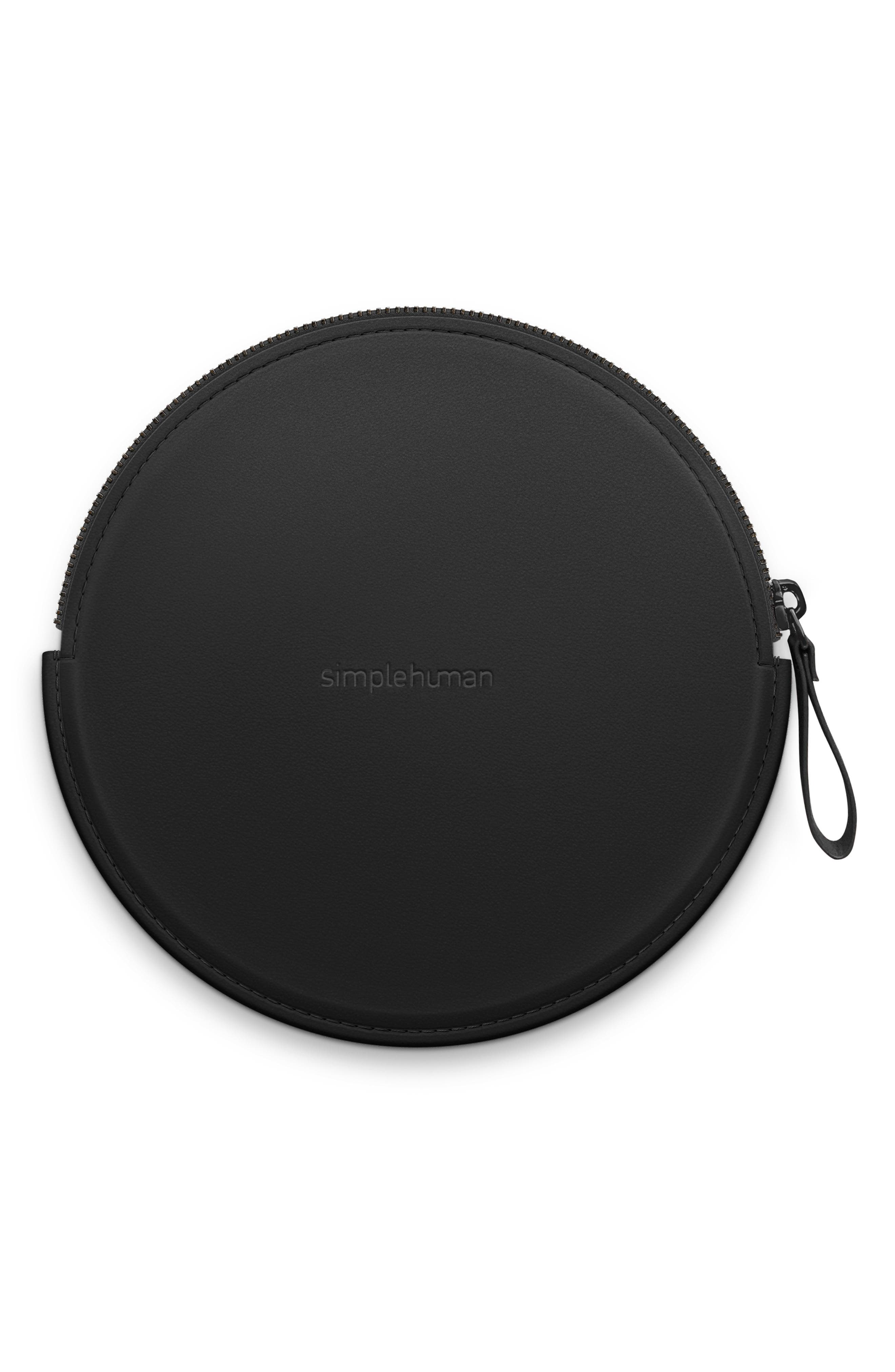 ,                             Sensor Mirror Compact Case,                             Main thumbnail 1, color,                             BLACK