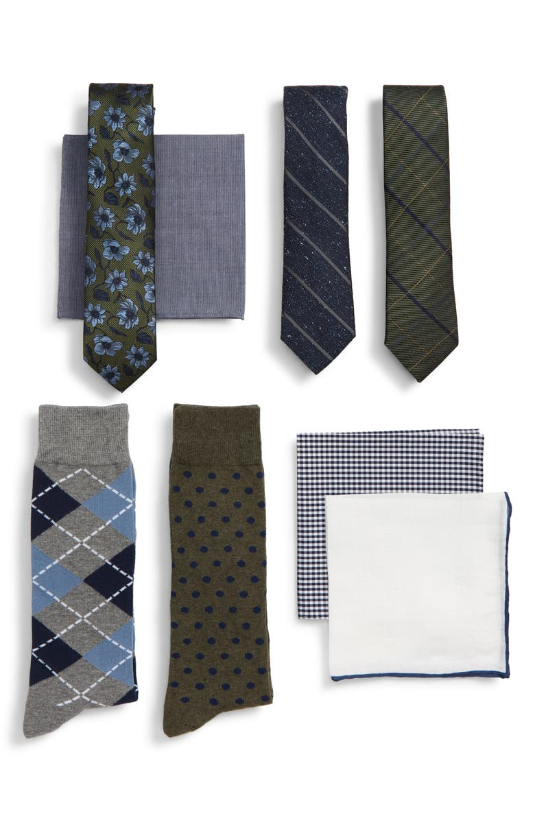 THE TIE BAR Large Green Style Box, Main, color, 308