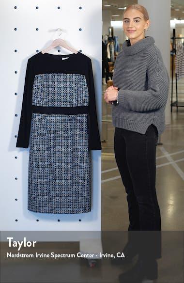 Danopus Long Sleeve Tweed Sheath Dress, sales video thumbnail