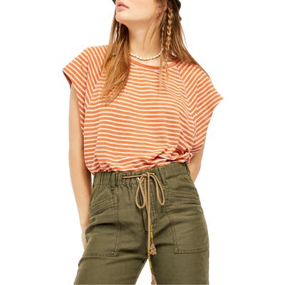 Free People Halo Stripe Tee, Brown