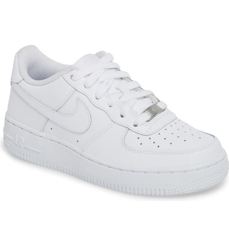 NIKE Air Force 1 Sneaker, Main, color, WHITE/ WHITE/ WHITE