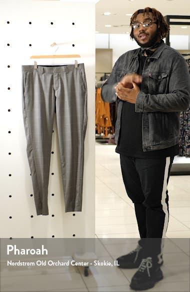 Flat Front Windowpane Wool Trousers, sales video thumbnail