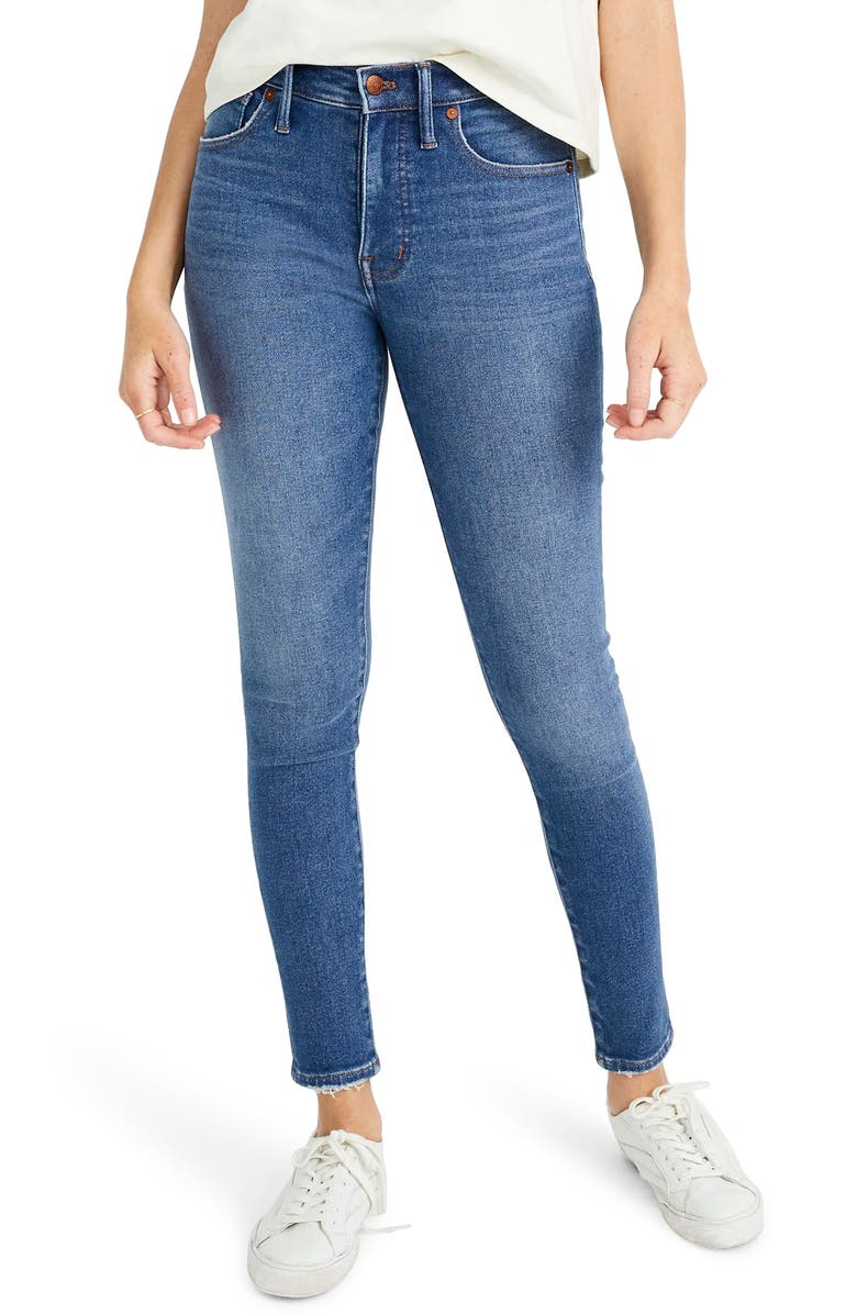 MADEWELL Mid Rise Skinny Jeans, Main, color, PEARSON WASH