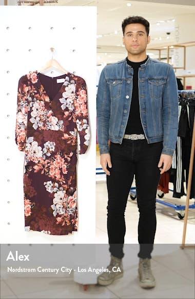 Floral Long Sleeve Sheath Dress, sales video thumbnail