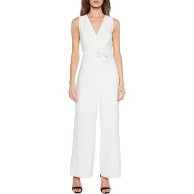 Bardot Back Cutout Jumpsuit, Ivory