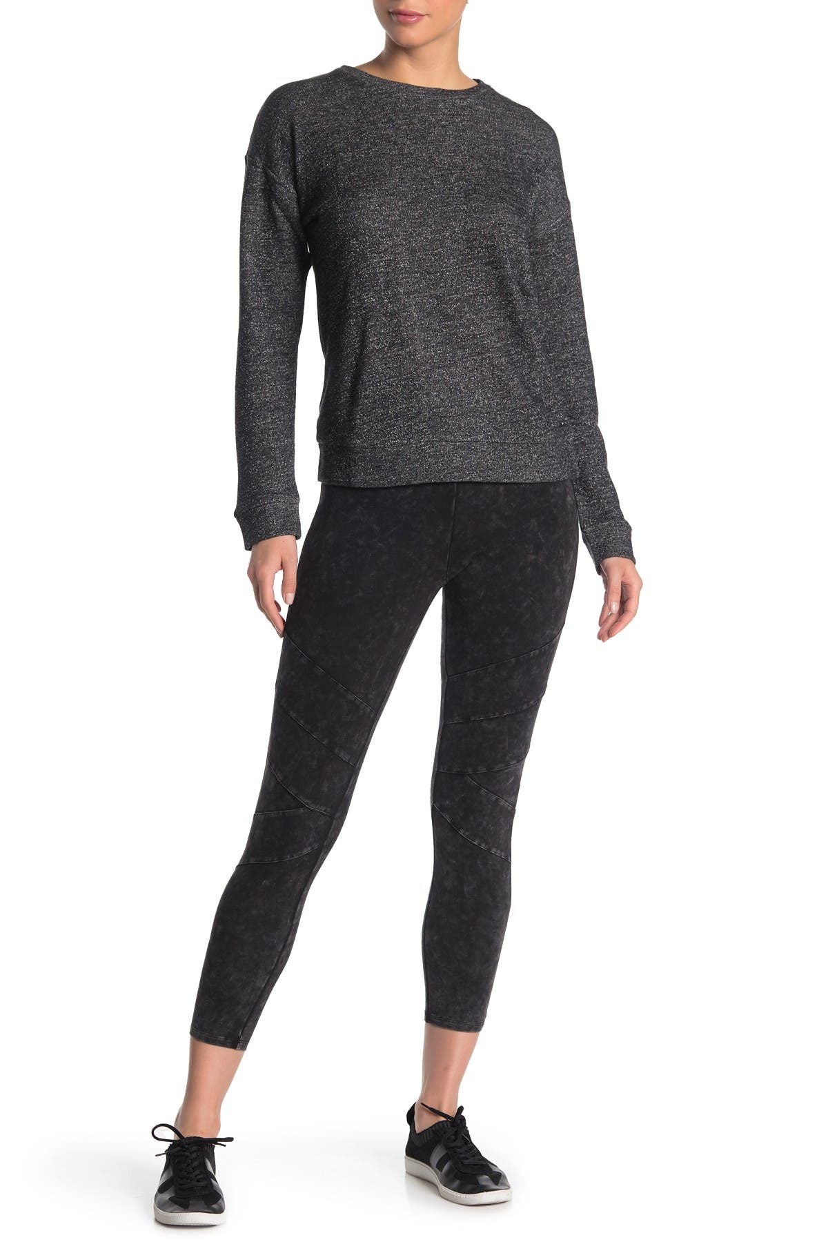 Image of MARC NEW YORK PERFORMANCE Mineral Wash 7/8 Seam Leggings