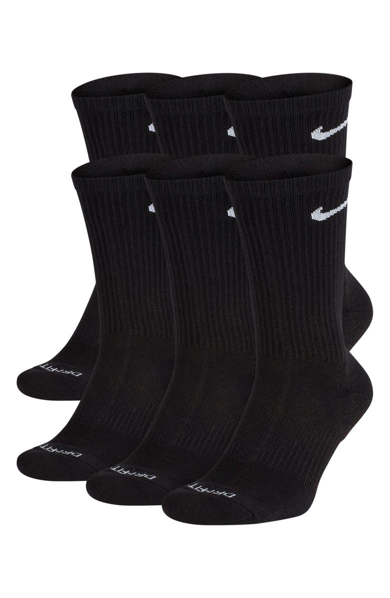 NIKE Dry 6-Pack Everyday Plus Cushion Crew Training Socks, Main, color, 010
