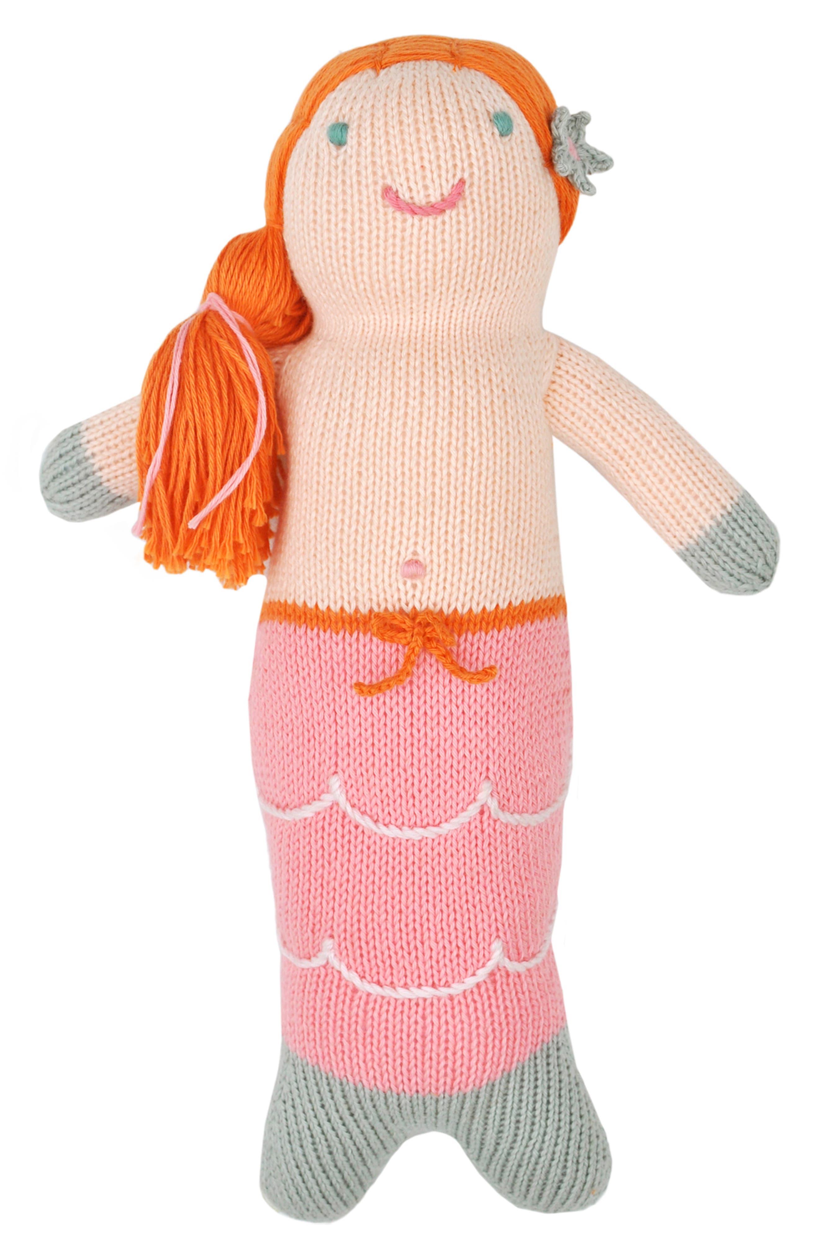 Girls Blabla Melody The Mermaid Hand Knit Doll
