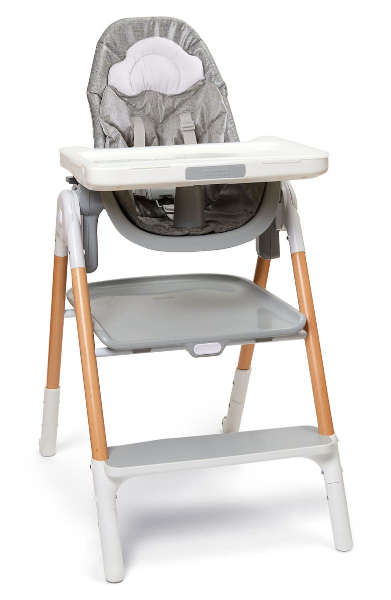 SKIP HOP Sit-To-Step Highchair, Main, color, GREY/WHITE