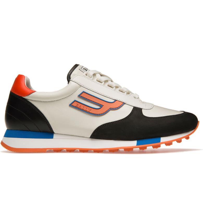 BALLY Gavino Low Top Sneaker, Main, color, 001