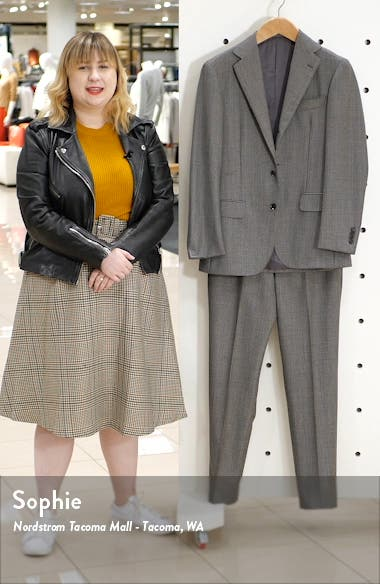 Trim Fit Houndstooth Wool Suit, sales video thumbnail