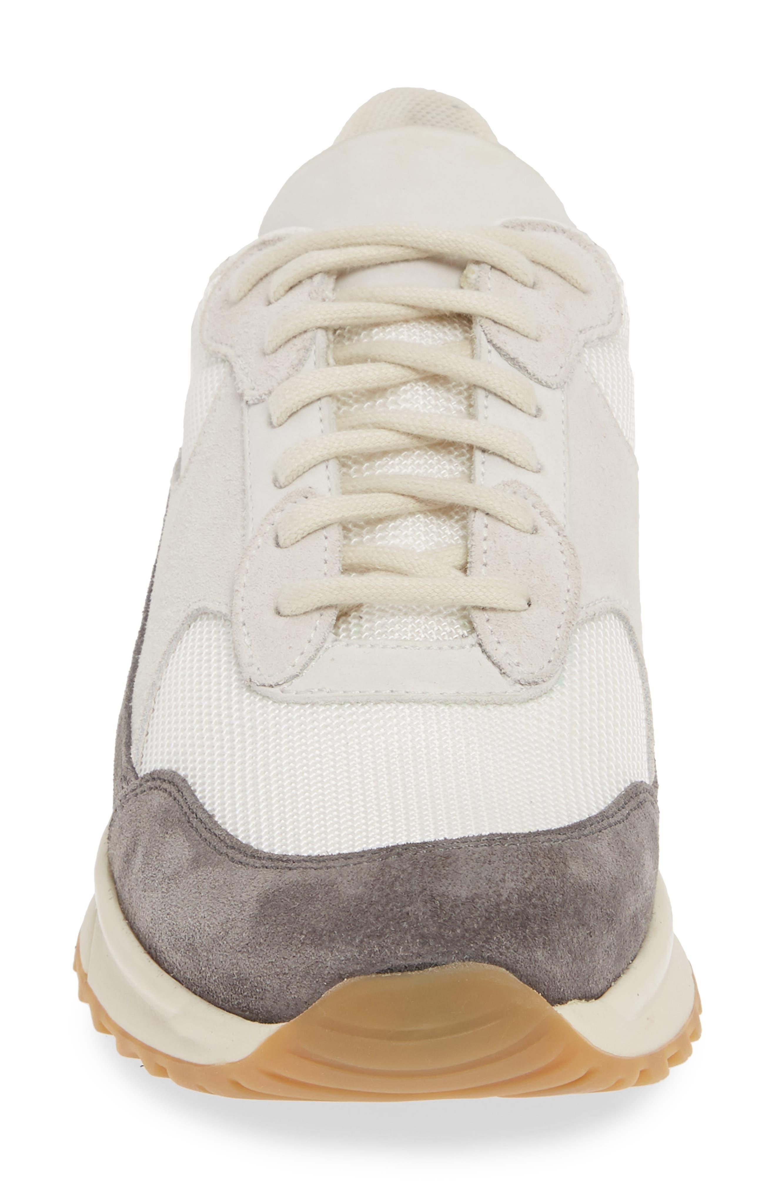 ,                             New Track Sneaker,                             Alternate thumbnail 4, color,                             WHITE/ GREY