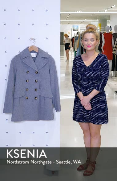 Double Breasted Wool Peacoat, sales video thumbnail