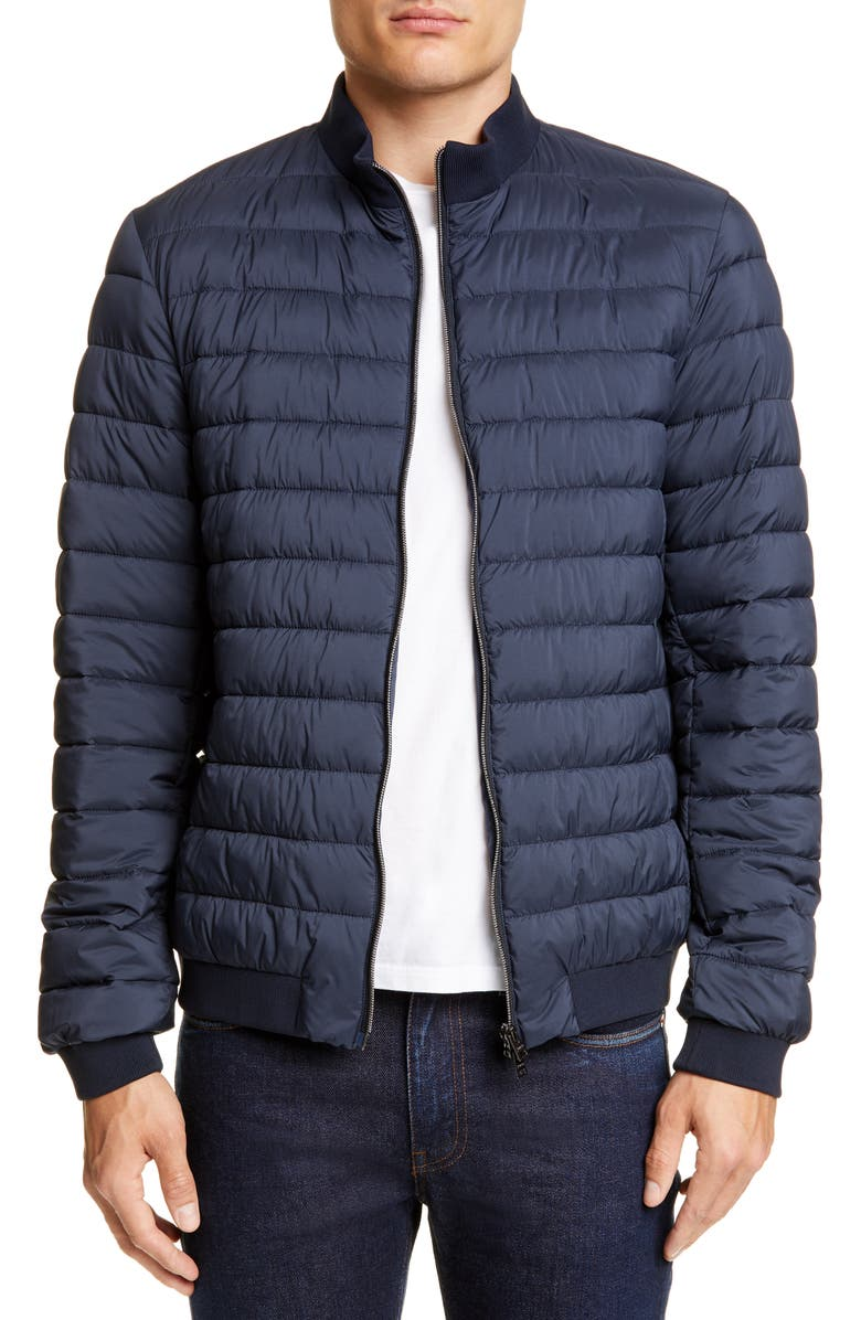 HERNO Quilted Water Repellent Bomber Jacket, Main, color, 414
