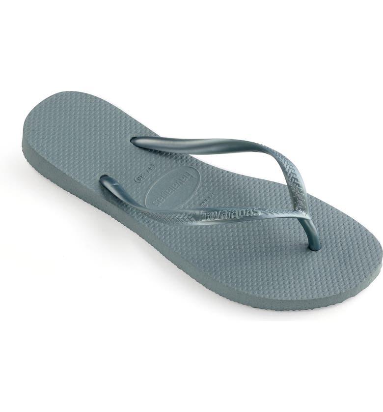 HAVAIANAS 'Slim' Flip Flop, Main, color, SILVER BLUE MULTI
